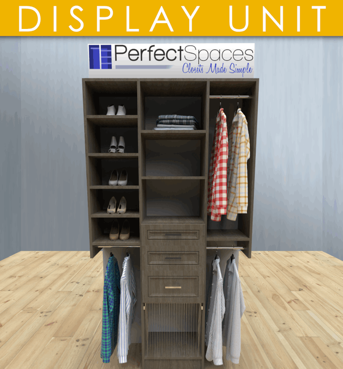 Perfect Spaces Closet Display